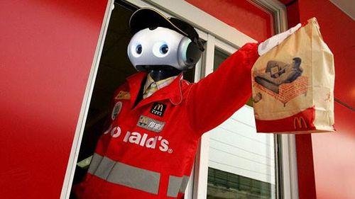Robot serving