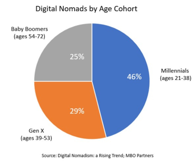 Digital nomads age cohorts